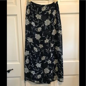 Limited Express Floral Wrap Skirt
